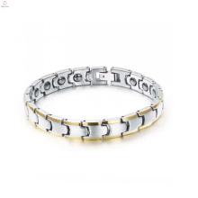 высокая польский вольфрама браслет здоровья магнитный браслет для мужчин позолоченные ювелирные изделия оптом