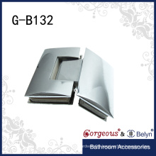 Heavy duty glass to glass hinge for glass door
