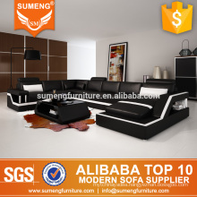 SUMENG 2016 latest alibaba living room furniture original leather sofa design