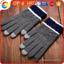 Высокое качество newgift сенсорный экран перчатки Подгонянные трикотажные зимние сенсорный экран перчатки