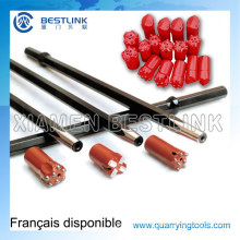 Shank Hex22*108mm Taper Drill Rod for Pneumatic Rock Drill