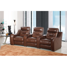 Living Room Sofa with Modern Genuine Leather Sofa Set (442)