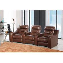 Sofá de sala com sofá de couro genuíno moderno (442)