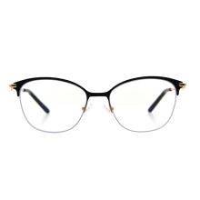 New Model High Quality Spring Hinge Half Frame Metal Glasses Women