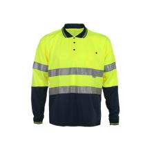 T-Shirts Whosesale à manches longues polo de sécurité