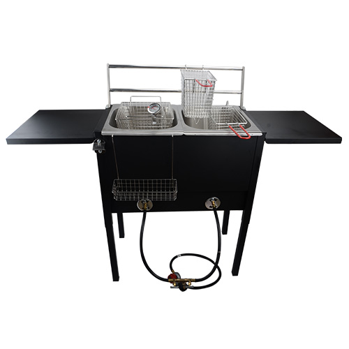 Gas Burner With Basket