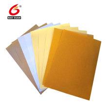Single side silicone coated havanna glassine release paper