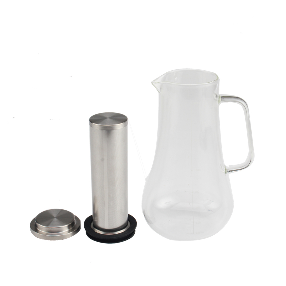 1400ml Glass Coffee Pot With Handle