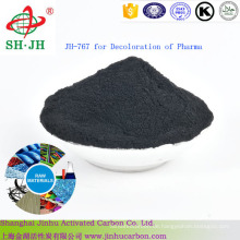Pulveraktivkohle zur Entfärbung von pharmazeutischen Rohstoffen