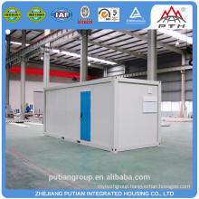 Temporary fashionable steel door prefabricated bathroom unit