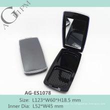 Горячая продажа прямоугольный компактный порошок дело с зеркало AG-ES1078, AGPM косметической упаковки, Эмблема цветов