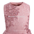 New Design Many Layers Tutu Pink Color Dress Embroidered Flower Girl Tulle Dress