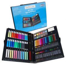 niños de escuela que pintan el conjunto, sistema de los efectos de escritorio, niños que pintan sistemas