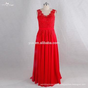 RSE719 Sexu Back Vestido de noite aberto Red Sexy Mature Party Dress