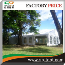 Tente de canopée de banquet 6 m par 18 m Tente de pvc pour 70 personnes