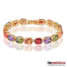 Bijoux ovales à bijoux gemmes à la menthe en laiton à la mode en laiton 2016 (CBR0009-C)