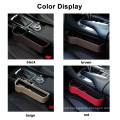 pu Leather Auto Console Catcher Gap Filler multifunctional car seat gap organizer