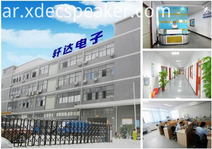 XDEC 40mm multimedia speaker Factory