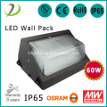 60W IP65 Grade Vattentät Wall Pack Lights