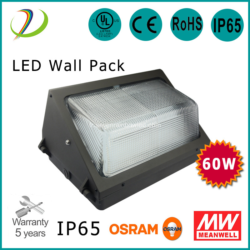 60W Outdoor IP65 Led Wall Pack Lights