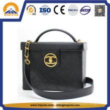 Caja de cosméticos para dama con marco de cuero (HB-6633)