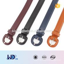 2016 señora fashional D anillo falso cinturón de cuero