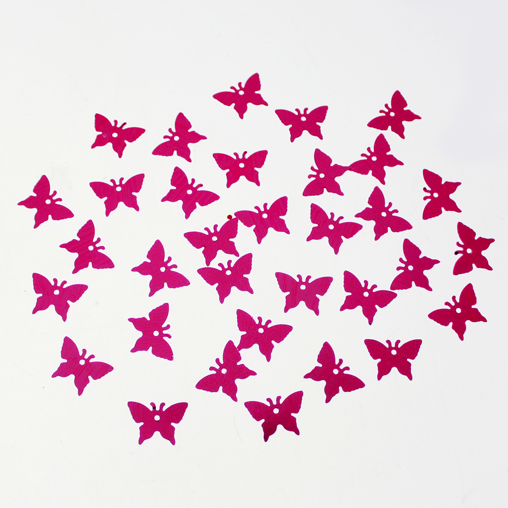 Pink Butterfly Shape Sequin