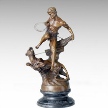 Soldaten Figur Statue Leopard Lady Bronze Skulptur TPE-206