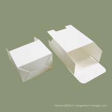 Emballage de boîte de carte blanche d'impression personnalisée