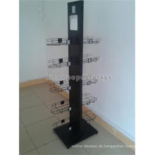 Neues Design Floorstanding 2-seitige Kappe Produkte Display Rack, Metall Sport Ball Cap Display Rack