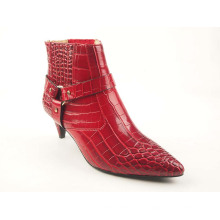 Damen Kitten Heel Boots Upper Buckle Pumps