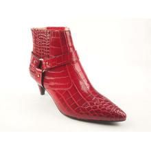 Ladies Kitten Heel Boots Upper Buckle Pumps