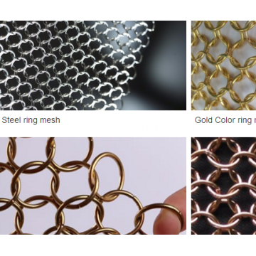 Stainless steel ring chainmail mesh