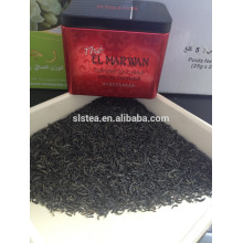 chunmee tea in tin blend tea OEM in eyebrow type from huangshan songluo