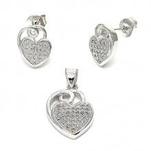 Heiße Verkäufe 925 Sterlingsilber-Schmucksache-gesetzte Herz-Ohrring-Anhänger