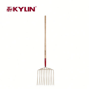 All Types Of Farm Tools Spading Fork Hardwood Handle With Carbon Steel Material