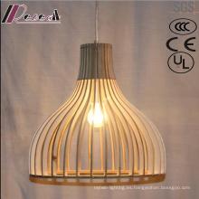 Moda simple y madera colgante hueco iluminación con barra
