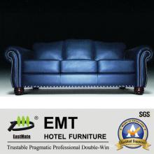 Sofá de cuero del sistema del sofá del cuero del diseño del color de la manera fijado (EMT-SF34)