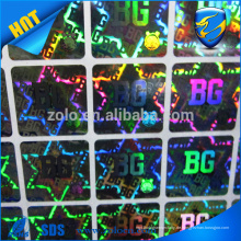 China-Versorgungsmaterial-preiswerte Hologramm-Aufkleber des kundenspezifischen Entwurfs, Qualitäts-Laser-Druck-holographischer Aufkleber
