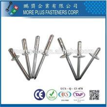 Taiwán Multi-Grip Open Aluminio Blanco Remaches