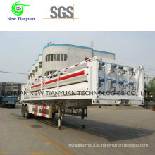 High Pressure CNG 6-Tube Trailer for CNG Daughter Station