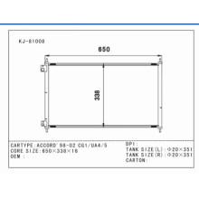 Auto Aluminum Condenser for Accord′98-02 Cg1/Ua4/5