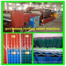 máquina de fabricación de techo corrugado pvc