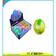 High Quality Kid's Toy Rubber LED Stripe Fish Light Bouncing Ball