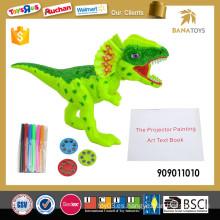 Juguete educativo electrónico de la pintura del proyector del dinosaurio