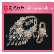 ShangDian Handcrafted Floral Halskette, Armband, Ohrringe Diamond Assembly