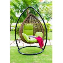 Egg Shape Poly Rattan Hammock for Outdoor Patio Garden Furniture