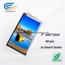 "7"" 600*1024 40 Pin Touch Screen Display"