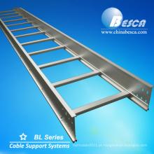 Escada de cabo galvanizada de alumínio do padrão certificado de NEMA Escada de cabo das bandejas de cabo