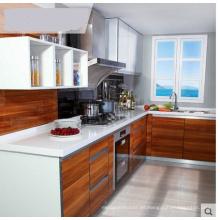 Gabinete de cocina de madera impermeable (MOQ = 1 conjunto)